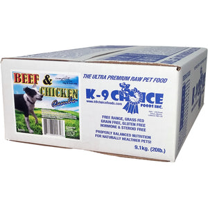 K9 Choice Raw Diet Beef Chicken Combo 9.1kg