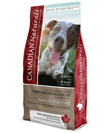 CANADIAN NATURAL DOG PORK AND BROWN RICE  ADULT 30LB