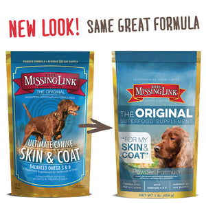 MISSING LINK - DOG 1LB SKIN & COAT SUPPLEMENT