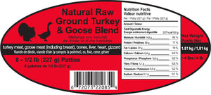 Turkey Gooses  8 - 1/2 lb Diet Patties Spring Meadows Diet