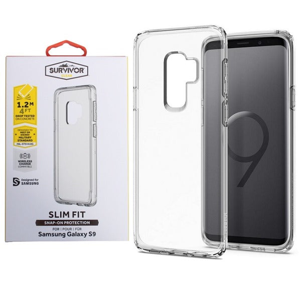 Griffin Survivor Strong clear rugged case for Galaxy s9 plus