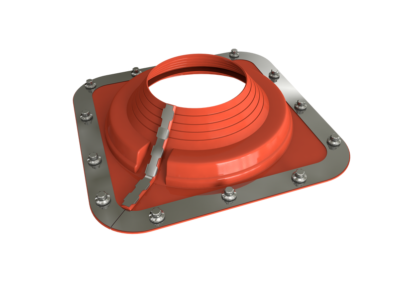 Dektite Combo Rubber Roof Flashing 75 - 175mm Red Silicone (DC204REC)