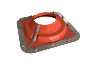 Dektite Combo Rubber Roof Flashing 108 - 190mm Red Silicone (DC205REC)