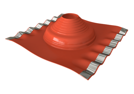 Dektite Soaker Rubber Roof Flashing 114-254mm Red Silicone (DF703)