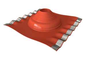 Dektite Soaker Rubber Roof Flashing 75-155mm Red Silicone (DF702)