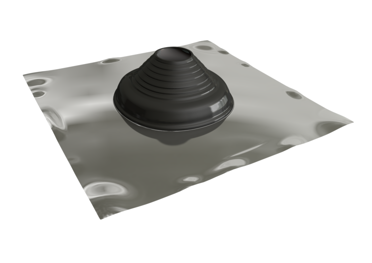 Seldek Aluminium Rubber Roof Flashing 110 - 200mm Black EPDM (SDA102B)