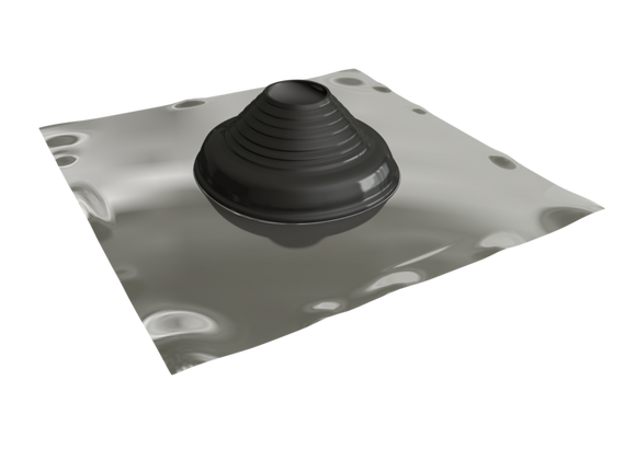 Seldek Aluminium Rubber Roof Flashing 50 - 170mm Black EPDM (SDA101B)