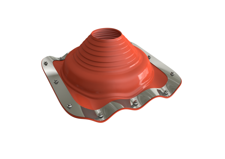 Dektite Premium Rubber Roof Flashing 75-175mm Red Silicone (DFE204RE)
