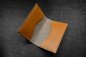 Italian Leather 2 Slot Bifold Wallet (Grey|Sand)