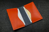 Italian Leather 2 Slot Bifold Wallet (Navy|Orange)