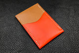 Customizable Italian Leather 2 Slot Card Wallet