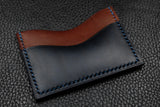 Customizable Italian Leather 3 Slot Card Wallet