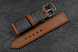Barenia Tan Full Stitch Leather Watch Strap