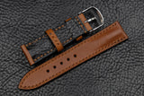 Barenia Tan Half Padded Leather Watch Strap