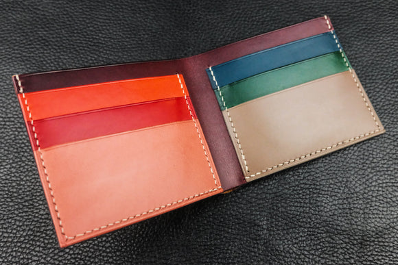 Customizable Italian Leather Billfold Wallet - 7 Slots