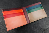 NEW: Customizable Italian Leather Billfold Wallet - 7 Slots