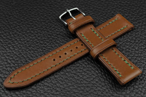 THOS Italian Chestnut Leather Watch Strap