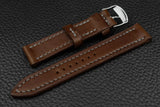 THOS Italian Chocolate Leather Watch Strap