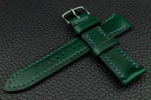THOS Italian Green Leather Watch Strap