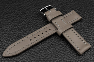 THOS Italian Grey Leather Watch Strap