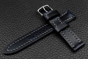 THOS Italian Navy Leather Watch Strap
