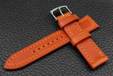 THOS Italian Orange Leather Watch Strap
