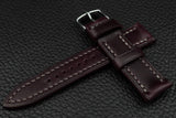 THOS Italian Purple Leather Watch Strap