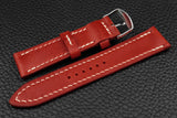 THOS Italian Red Leather Watch Strap