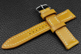 THOS Italian Yellow Leather Watch Strap
