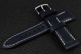 Italian Navy Half Padded Leather Watch Strap