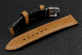 Italian Sand Half Padded Leather Watch Strap