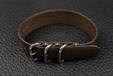 THOS Italian Espresso 3 Ring Pass Through Leather Strap