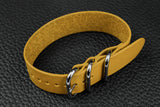 THOS Italian Yellow 3 Ring Pass Through Leather Strap