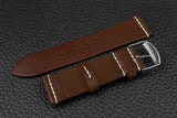 THOS Italian Chocolate Unlined Leather Watch Strap
