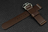 THOS Italian Espresso Unlined Leather Watch Strap