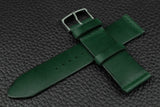 THOS Italian Green Unlined Leather Watch Strap