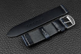 THOS Italian Navy Unlined Leather Watch Strap