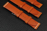 THOS Italian Orange Unlined Leather Watch Strap