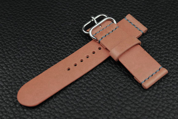 THOS Italian Pink Unlined Leather Watch Strap