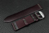 THOS Italian Purple Unlined Leather Watch Strap