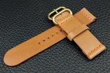 THOS Italian Sand Unlined Leather Watch Strap