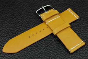 THOS Italian Yellow Unlined Leather Watch Strap