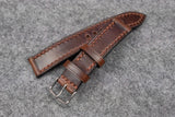Horween Chromexcel Brown Full Stitch Leather Watch Strap