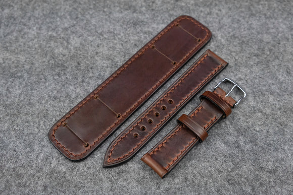 NEW: Horween Chromexcel Brown Full Stitch Newman Bund Watch Strap