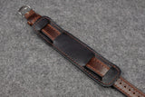Horween Chromexcel Brown Full Stitch Newman Bund Watch Strap