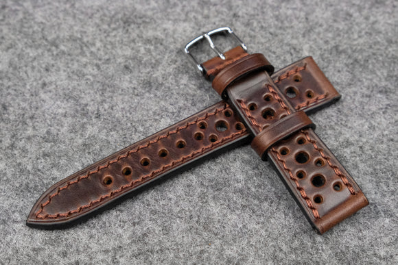 NEW: Horween Chromexcel Brown Racing Leather Watch Strap