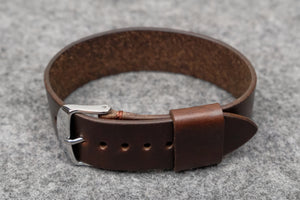 Horween Chromexcel Brown Wide Pass Through Leather Strap