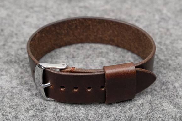 NEW: Horween Chromexcel Brown Wide Pass Through Leather Strap