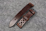 Horween Chromexcel Brown Unlined Racing Leather Watch Strap