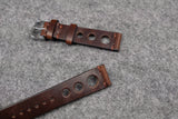 Horween Chromexcel Brown Unlined Rally Leather Watch Strap